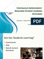Continuous Improvement Measuring Student Learning Outcomes by Jay Keuter