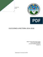 Candidatos a Rector Usac 2014-2018