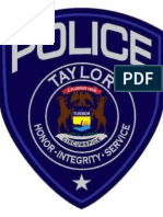 Taylor Police Annual Report for 2013