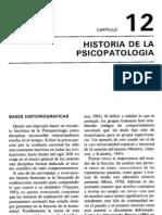 Una breve Historia de la  Psicopatología