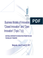 Closed Innovation and Open Innovation