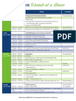 maeoe 2014 schedule at a glance