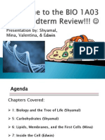 Mcmaster BIO 1A03 Midterm 1 Review by Biology Society
