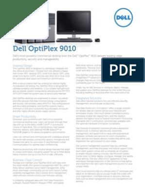 Dell Optiplex 9010 Spec Sheet | Dell | Virtualization