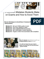 5 Common Mistakes Students Make on Exams