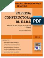 Control Interno Constructora Bl