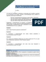 EC5 - Os Princípios da Engenharia  Econômica Aplicados à Análise de Viabilidade de Investimentos
