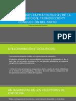 complicaciones farmacológicas de la uteroinhibición, preinducción y