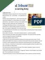 Dearborn Cranes Serving Army