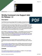 WinZip Command Line