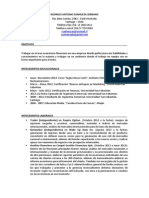 Curriculum Rodrigo Sanhueza