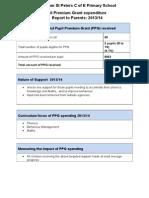 pupil premium report 2013 2014