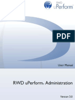 RWD uPerform 3.0 - Administration