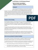 sports grant report 2013 2014