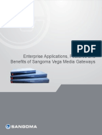 Enterprise Applications Features and Benefits of Sangoma Vega Media Gateways