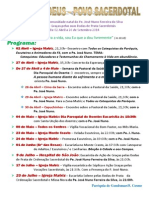 Caminhada da Comunidade natal do Pe. José Nuno Ferreira da Silva Em Ação de Graças pelas suas Bodas de Prata Sacerdotais De 2 Abril a 26 de Setembro 2014