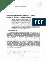Solubilidad Del CO2 en Agua-etanol