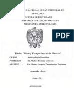 W de Antropologia Simbolica Ritos y Perspectivas de la Muerte en Maestria en Antropología Junio 2011