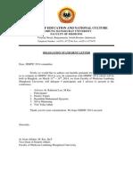 Delegation Statement Letter