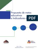PLAN 133 Propuesta de Metas Educativas e Indicadores Al 2021 2013