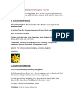Homeopathic Emergency First Aid Remedies