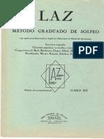 (LAZ) Método Graduado de Solfeo - Tomo III