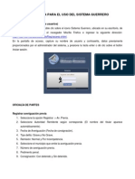 GU+ìA R+üPIDA PARA EL USO DEL SISTEMA GUERRERO (Tecpan)