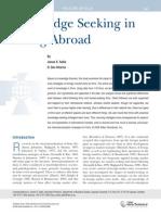 Knowledge Seeking in Going Abroad