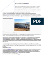 Ventajas e inconvenientes de la energía renovable