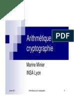 Marine Minier, Arithmétique pour la cryptographie