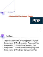 Module 4 - A Business Model for Continuity Planning