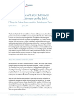The Importance of Early Childhood Programs for Women on the Brink