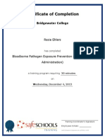 certificate of completion for bloodborne pathogen exposure prevention teachers and administration