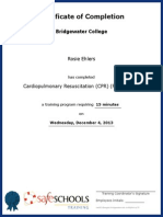 certificate of completion for cardiopulmonary resuscitation cpr full course