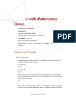 Matrices Example with Mathematica