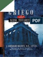 J. Gresham Machen Griego Del Nuevo Testamento Para Principiantes