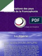 Pays Francophones Dans Le Monde
