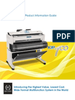 Kip 700 Product Information Guide