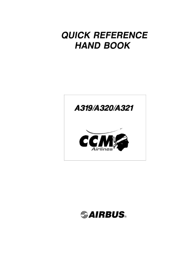 airbus a319 a320 a321 quick reference handbook rh es scribd com Airbus A320 Seating Layout airbus a320 quick study guide pdf