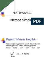 Week 3 Metode Simpleks