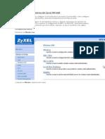 Configuración inalámbrica del Zyxel HW