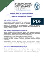 Programa Microbiologia General 2012