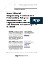 Fieldwork in Religion Editorial-libre