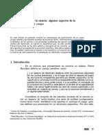 Estudios Sociales de La Cienca, Algunos Aspectos de La Confo