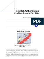 How to... Generate BW Authorization Profiles From a Flat File