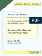 Gender Dan Durasi Tidur