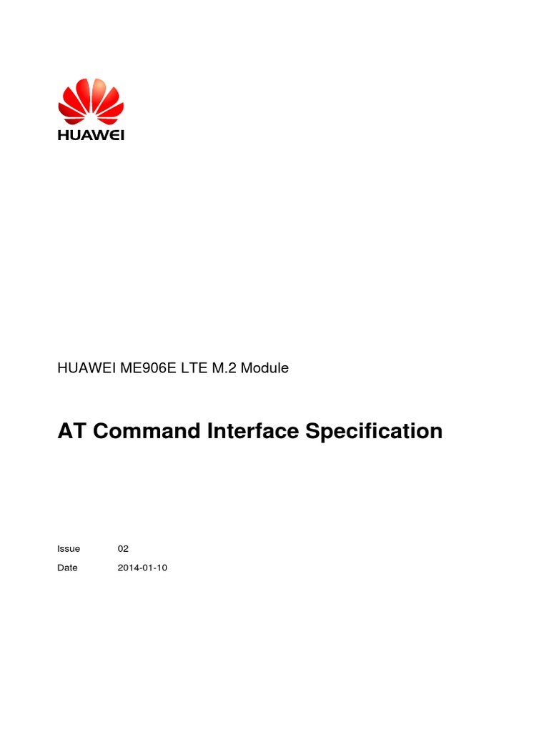 HUAWEI ME906E LTE M 2 Module at Command Interface Specification