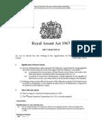 UK.royal Assent Act 1967