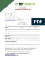 Vendor Application 2014