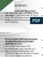Z Scores Presentation